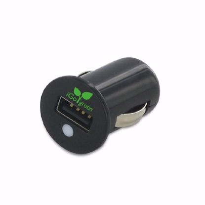 Picture of Trade iGo Microjuice 2.1A USB Car Charger with 1m Mfi Apple 30 Pin Charge and Sync Cable in Black