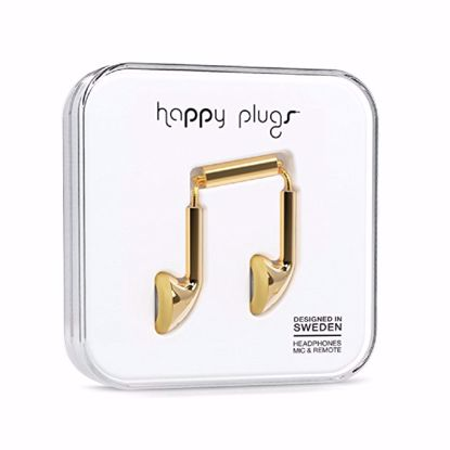 Picture of Trade Happy Plugs Deluxe Earbud Wired Earphones in Gold